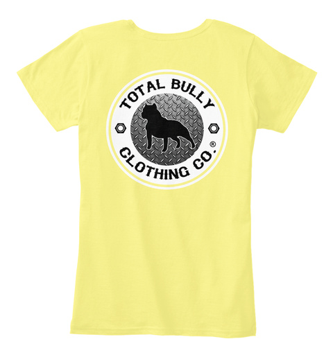 Total Bully   Love Is In The Eyes Tshirt Lemon Yellow T-Shirt Back