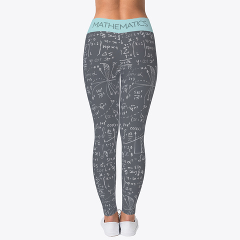 Mathematics Legging Gray Standard Camiseta Back
