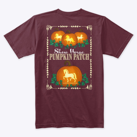 Fall Collection   Pumpkin Patch Maroon T-Shirt Back
