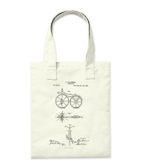 Bicycles. Natural T-Shirt Back