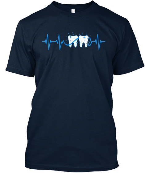 Flossing   Heartbeat New Navy T-Shirt Front