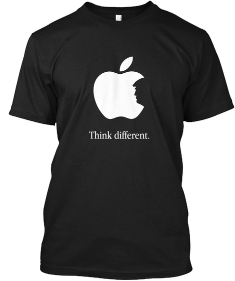 Think Different. Black T-Shirt Front