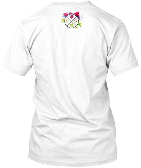 Angry Fisherman White T-Shirt Back