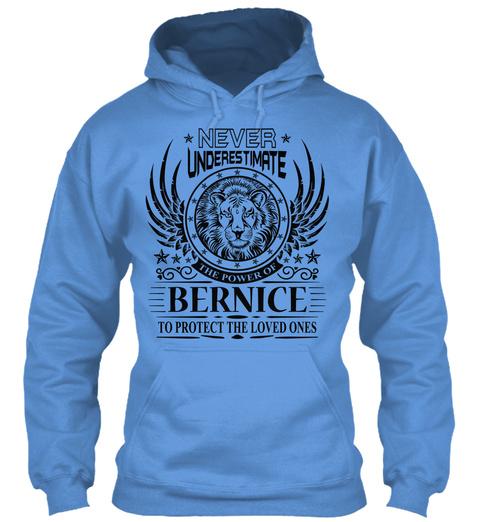 Never Underestimate The Power of Berniece Hoodie Black