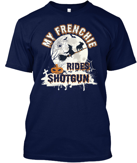 Frenchie Navy T-Shirt Front