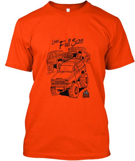 Livin Full Size Orange T-Shirt Front