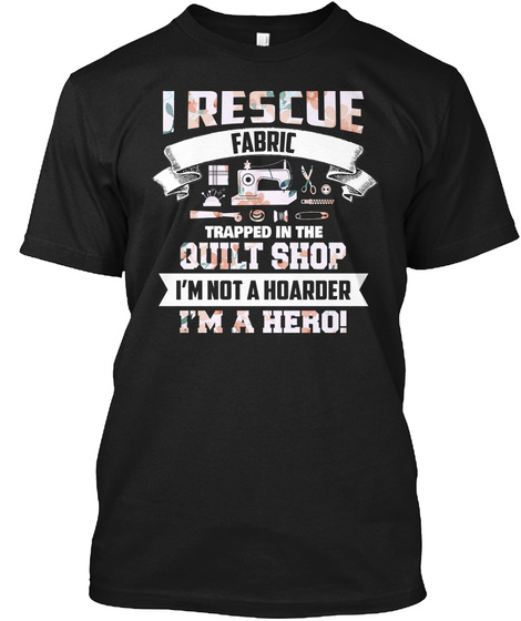 Quilting Sewing Machine Funny Sew Se Black T-Shirt Front