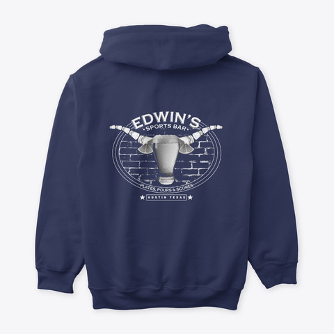 Edwin's Pours Hoodie Navy T-Shirt Back