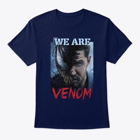 Venom01 Navy T-Shirt Front