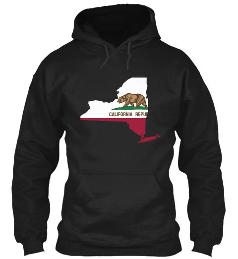 Californian In New York | Unique Designs  Black T-Shirt Front