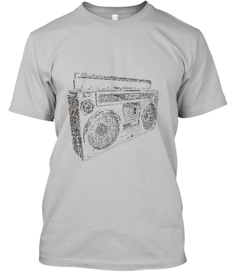 Hop Ghetto Blaster Sport Grey T-Shirt Front