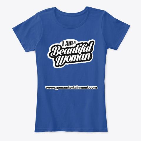 Dj Greg Gee Beautiful Woman Deep Royal  T-Shirt Front