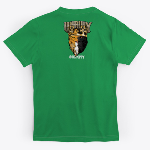 Unruly Green T-Shirt Back