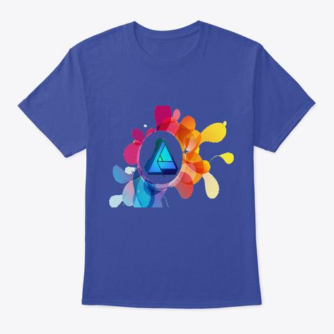 Check Deep Royal T-Shirt Front
