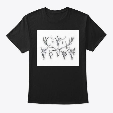 Ungulate Skulls Black T-Shirt Front