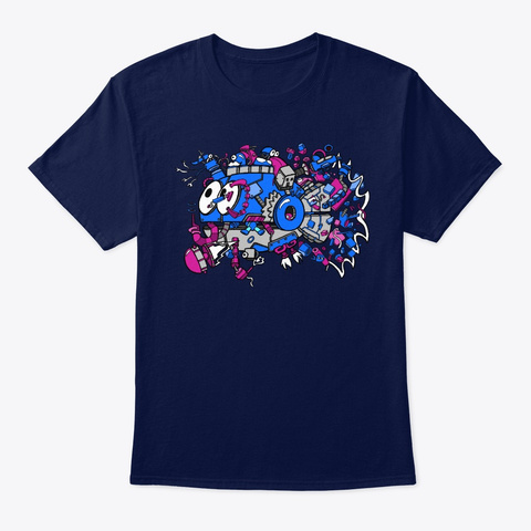 Everything Fish! Navy T-Shirt Front