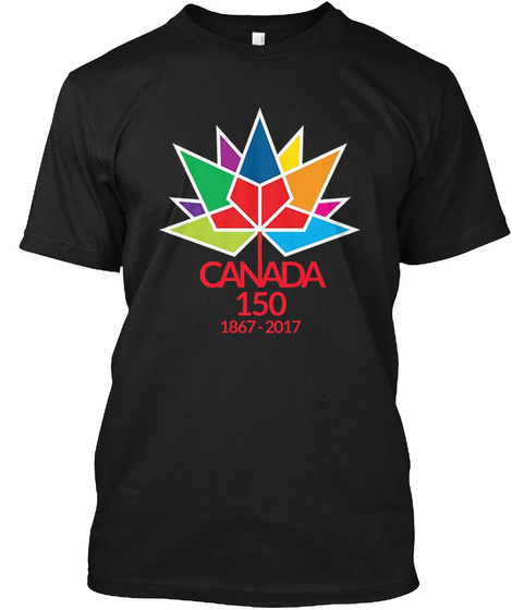Canada 150  1867 2017 Black T-Shirt Front