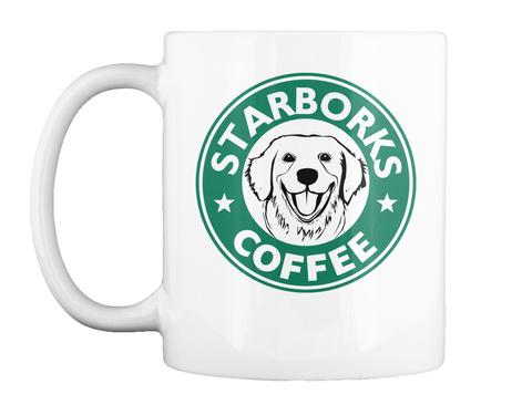 Starborks Coffee White Camiseta Front