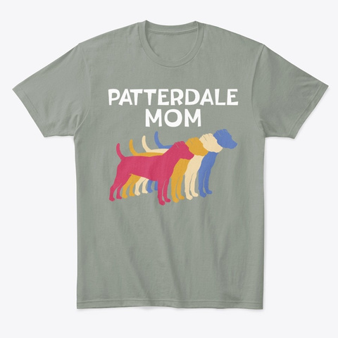 Funny Terrier Owner Patterdale Mom Grey T-Shirt Front