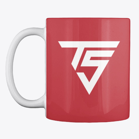 Red Coffee Mug Bright Red T-Shirt Front