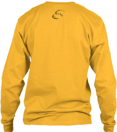 Horseblinders Long Sleeve Tee Gold Long Sleeve T-Shirt Back