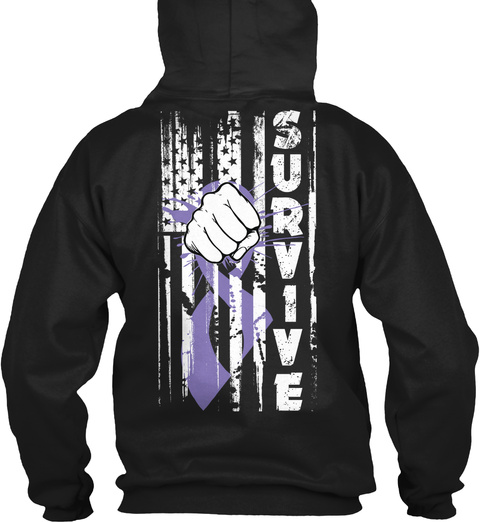 Survive Black T-Shirt Back