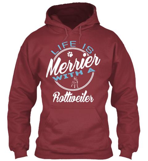Rottweiler Gift Shirt Maroon T-Shirt Front
