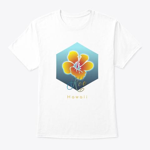 Ke'e Hawaii Surfing Beach White T-Shirt Front