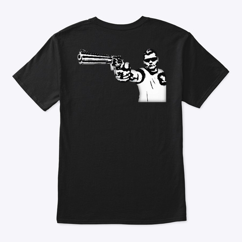 Python Black T-Shirt Back
