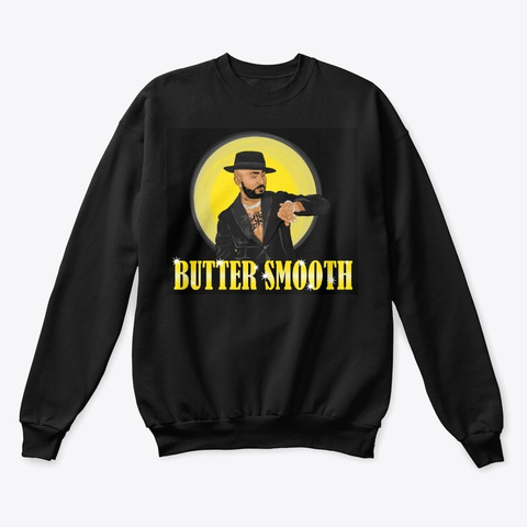 Butter Smooth Black T-Shirt Front