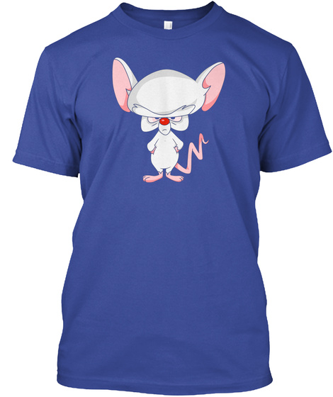 Pinky And The Brain Brain Deep Royal T-Shirt Front