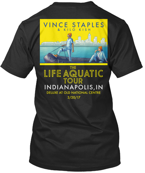 Indianapolis, In Black T-Shirt Back