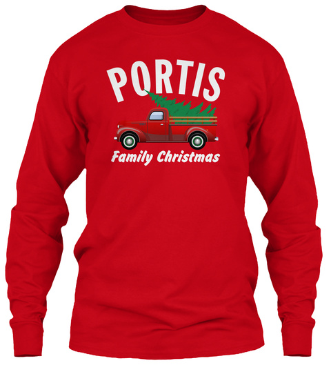 Portis Family Christmas Red T-Shirt Front