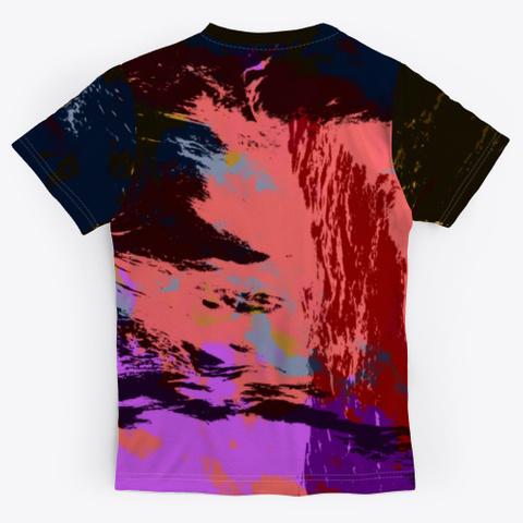 Feminist   Batik Tie Dye Camouflage Art Standard T-Shirt Back
