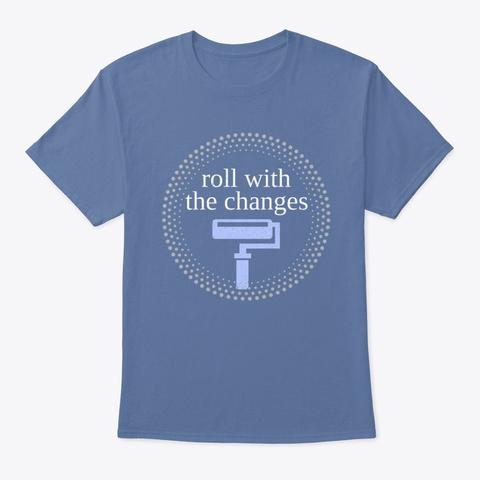 Paint Roll House Construction Handyman  Denim Blue T-Shirt Front
