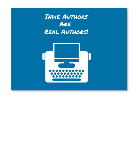 Indie Authors Are  Real Authors! Royal Blue Sticker Front
