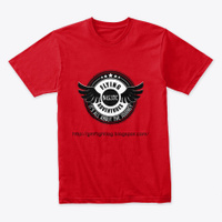 Our Flying Adventures Red T-Shirt Front