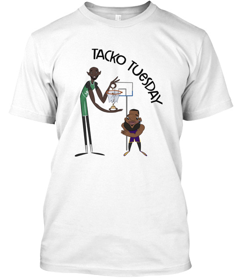 Tacko Tuesday White T-Shirt Front