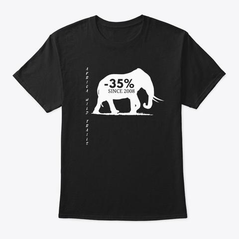 Elephant Black T Shirt Black T-Shirt Front