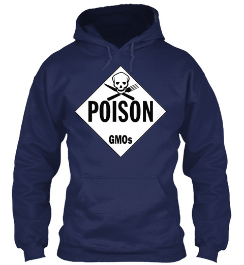 Gm Os Poison Placard Navy T-Shirt Front