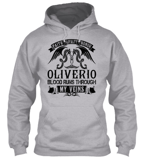 Oliverio   My Veins Name Shirts Sport Grey T-Shirt Front