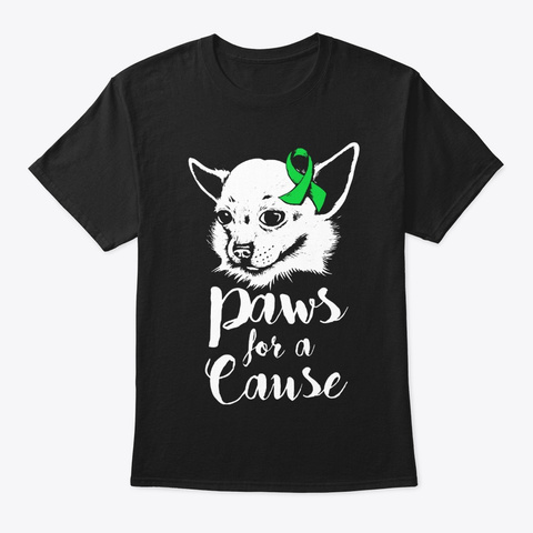 Paws For A Cause Scoliosis Awareness Black T-Shirt Front