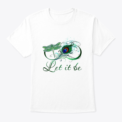Flower Children Let It Be  Costume White T-Shirt Front