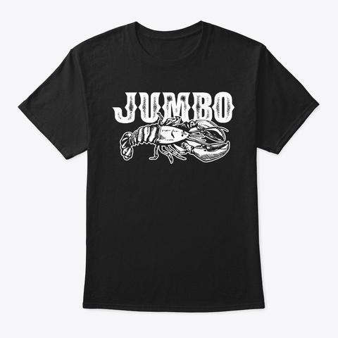 Crawfish Jumbo Retro Bayou Cute Southern Black T-Shirt Front