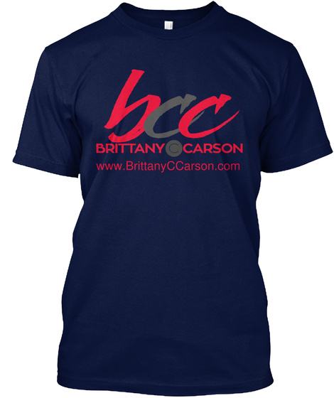 Www.Brittany C Carson.Com Navy T-Shirt Front