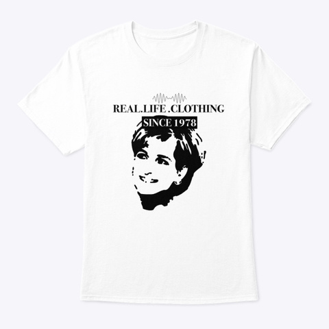 Princess Diana By  Real Life Clothing White T-Shirt Front