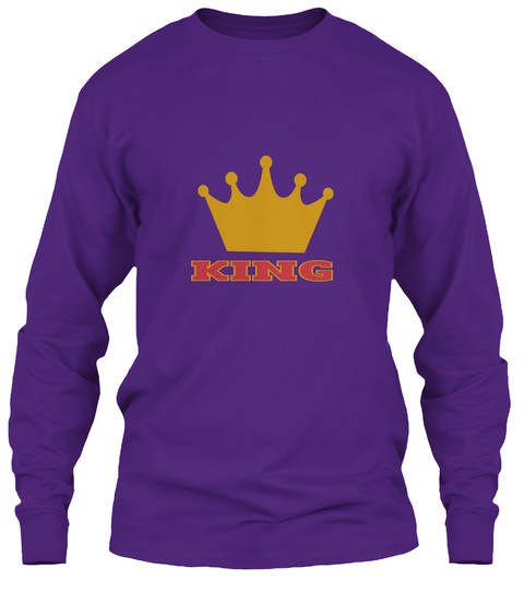 King  Purple T-Shirt Front