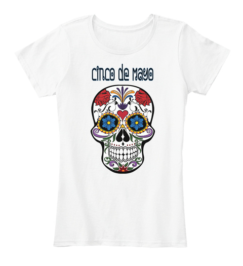 Cinco  De Mayo White Women's T-Shirt Front