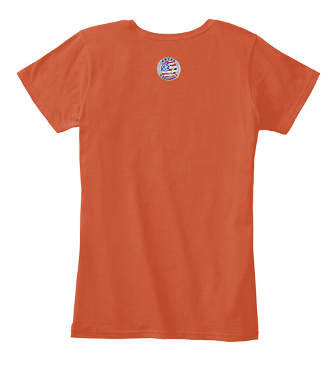 Beach Please Chill Florida Palm Trees Deep Orange T-Shirt Back