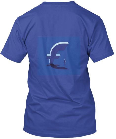 Facbook Stile Deep Royal T-Shirt Back